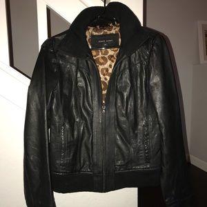 Black River Leather Bomber Jacket